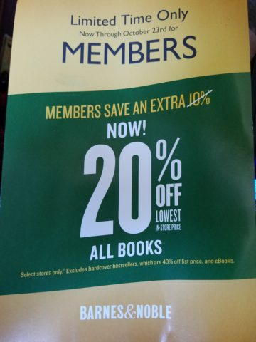 Barnes & Noble Mail Flyer