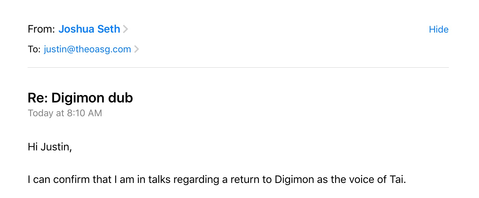 Digimon Joshua Seth