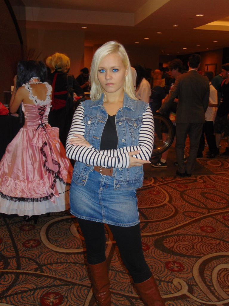 Android 18 cosplayer at Liberty City Anime Con