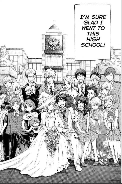 The characters seen a lot in Miki Yoshikawa's manga, all as adults.