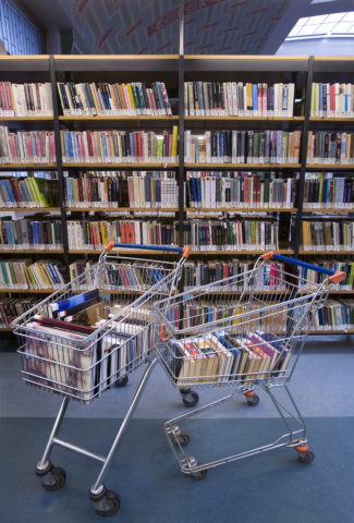Books in a shopping cart