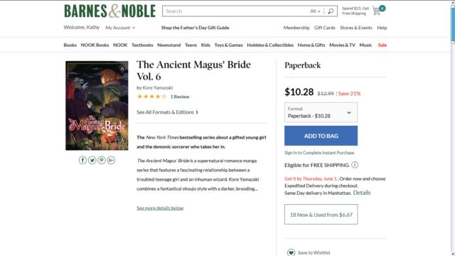 Ancient Magus' Bride 6 Price