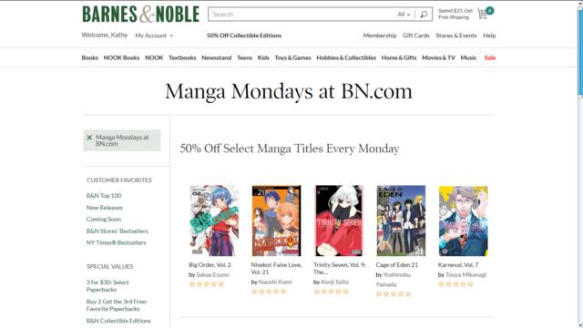 Barnes & Noble Manga Monday