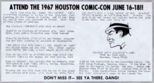Houston Comic-Con 1967